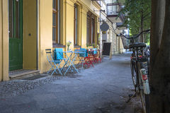 Street cafe in Berlin Royalty Free Stock Photos