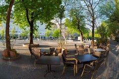 Street cafe in Bratislava Stock Photography
