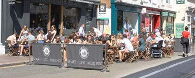 Street cafe in Brighton Royalty Free Stock Image