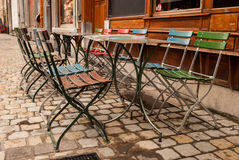 Street Cafe in Brussels, Belgium Stock Photography