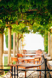 Street Cafe. Cafe in Montenegro Royalty Free Stock Photos