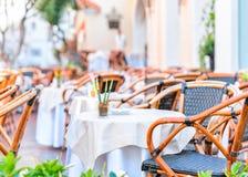 Street cafe on Capri Island. Italy royalty free stock image
