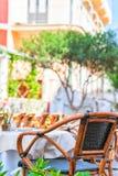 Street cafe in Capri Island. Italy stock image