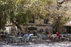 Street cafe in Crete. Royalty Free Stock Photos