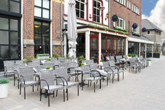 Street cafe in Den Bosch. Stock Images