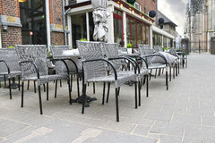 Street cafe in Den Bosch. Royalty Free Stock Photo