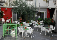 Street cafe in Greece Royalty Free Stock Image