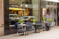Street cafe in Helsinki, Finland Royalty Free Stock Image