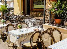A street cafe on the island of Capri. Anacapr. I, Italy stock images