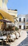 A street cafe on the island of Capri. Anacapr. I, Italy royalty free stock photos