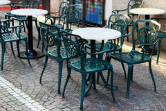 Street cafe in Italy Stock Images