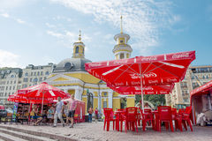 Street cafe in Kiev Royalty Free Stock Photo