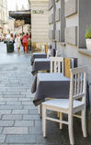 Street cafe, Krakow, Poland Stock Photography