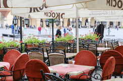 Street cafe, Krakow, Poland. Royalty Free Stock Photos