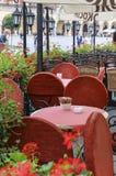 Street cafe, Krakow, Poland. Royalty Free Stock Image