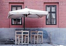 Street cafe in Ljubljana, Slovenia. Royalty Free Stock Photos
