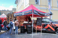 Street cafe at motofestival. Stock Images