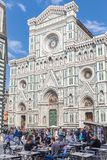 Street cafe near Cathedral Santa Maria del Fiore Duomo  in Flo Stock Photo