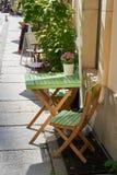 Street cafe in Berlin stock image
