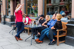 Street cafe in Notting Hill, London, UK Royalty Free Stock Images