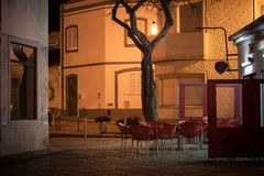 Street cafe in old european town Stock Photos