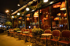 Street cafe in Paris Stock Photography