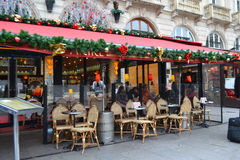 Street cafe in Paris Stock Photo