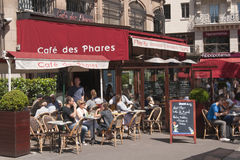Street Cafe - Paris - France Stock Images