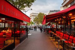 Street cafe in Paris, France Stock Images