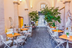 Street Cafe in Piazza Navona Centro Storico in Rome Italy Royalty Free Stock Photo