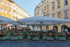 Street cafe in Prague. Stock Photography