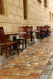 Street Cafe After Rain Royalty Free Stock Photos