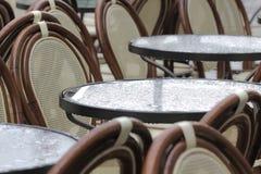 Street cafe on a rainy day Royalty Free Stock Photo
