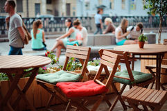 Street cafe. Royalty Free Stock Image