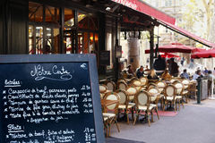 Street cafe restaurant Paris France Stock Image