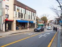 A street cafe and restuarant around city of Seoul, Korea. Stock Images
