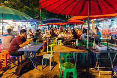 Street cafe at the Saturday Night Market, Chiang Mai, Thailand Royalty Free Stock Photos