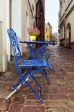 Street cafe in the streets of Old Tallinn, Estonia Royalty Free Stock Photo