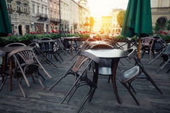 Street cafe terrace Stock Photography