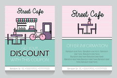 Street Cafe themed gift voucher template Stock Image