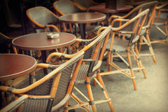 Street cafe. Typical outdoor cafe in Paris Stock Photo