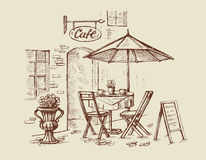 Street cafe vector Royalty Free Stock Photo