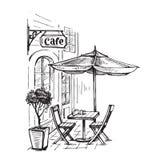 Street cafe vector Stock Photos