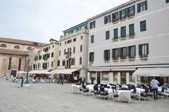 Street cafe in Venice Royalty Free Stock Photo