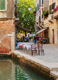 Street cafe in Venice Italy Royalty Free Stock Photography