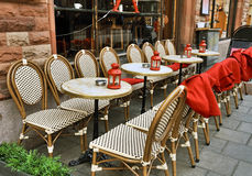 Street cafe at winter Royalty Free Stock Image
