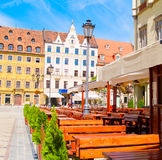 Street cafe, Wroclaw, Poland Royalty Free Stock Images