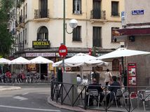 Street Cafes, Madrid Royalty Free Stock Photography