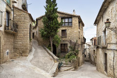 Street on Calaceite, Teruel, Spain Royalty Free Stock Image