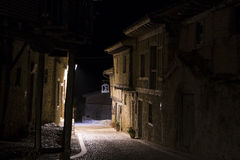 Street Calatanazor nigth, Soria, Spain Royalty Free Stock Photos